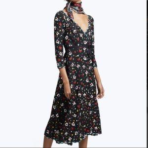 Marc Jacobs Floral Silk Jacquard Dress